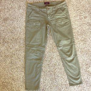 American Eagle olive cargo skinny pants Sz 8